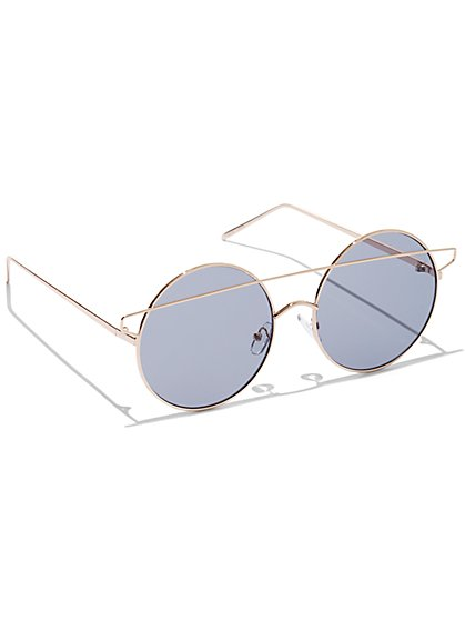 Plus Size Round Metal Sunglasses - Fashion To Figure