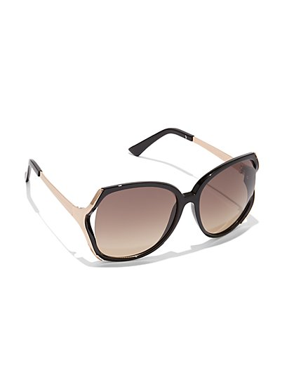 Plus Size Round Oversized Black Sunglasses - Fashion To Figure