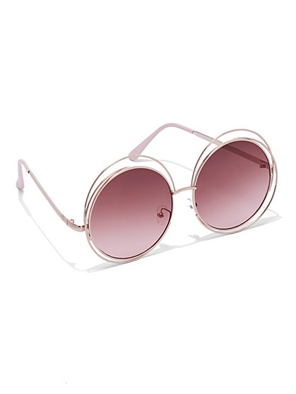 Plus Size Round Pink Sunglasses - Fashion To Figure