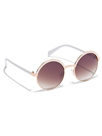 Plus Size Round Studded Sunglasses - Fashion To Figure