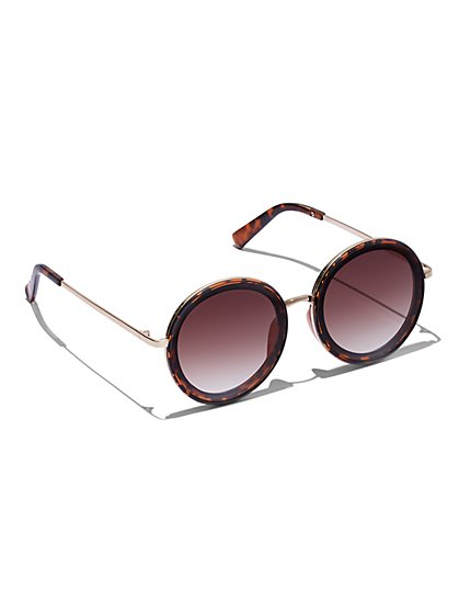 Plus Size Round Tortoise Shell Sunglasses - Fashion To Figure