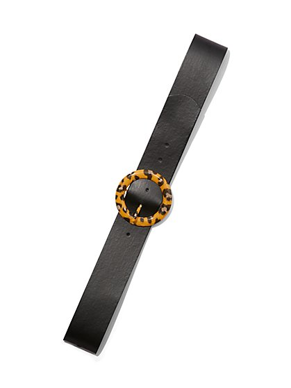 Plus Size Round Turtle Buckle Belt - Fashion To Figure