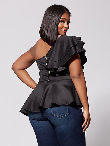 e6b9bfc4a17 ... Plus Size Roxanne Drama Peplum Top - Fashion To Figure ...