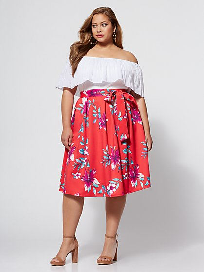 Plus Size Ryleigh Bow Skirt - Fashion To Figure