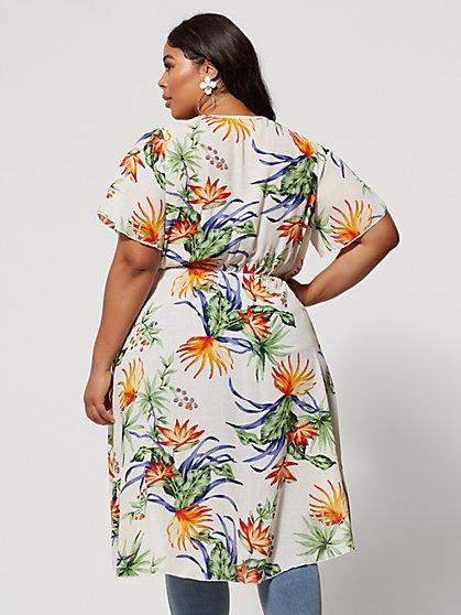 831d5d5f ... Plus Size Sabella Faux-Wrap Floral Blouse - Fashion To Figure ...