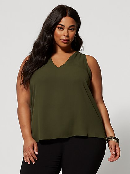 Plus Size Sabra Hi-Lo Tank - Fashion To Figure