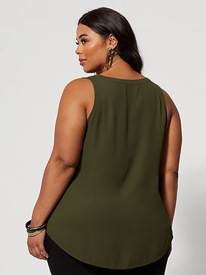 a213af0b64f0e0 ... Plus Size Sabra Hi-Lo Tank - Fashion To Figure ...