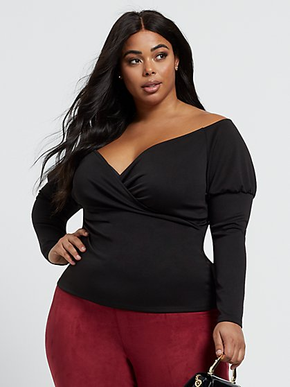 Plus Size Salma Sweetheart Off Shoulder Top - Fashion To Figure