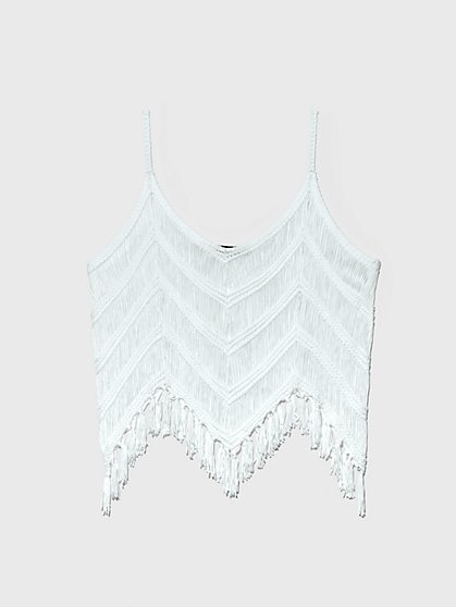 Plus Size Samantha Fringe Hem Tank - Fashion To Figure
