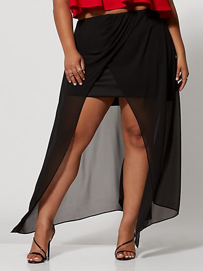 Plus Size Sarea Hi-Lo Skirt - Fashion To Figure
