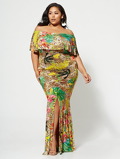 Plus Size Savannah Maxi Dress - Fashion To Figure