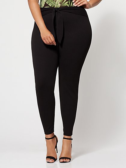 Plus Size Sawyer Tie-Front Pants - Fashion To Figure