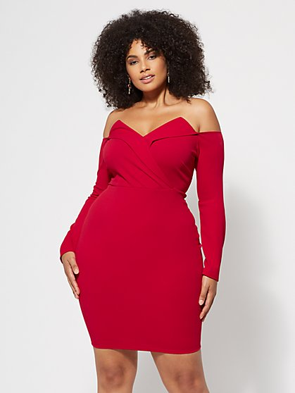 Plus Size Scarlett Foldover Dress - Fashion To Figure