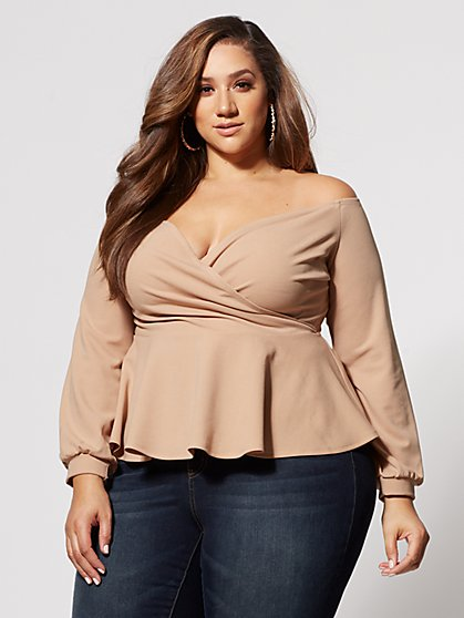 Plus Size Selena Peplum Top - Fashion To Figure