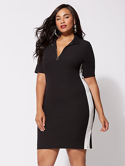 Plus Size Serena Zip-Front Dress - Fashion To Figure