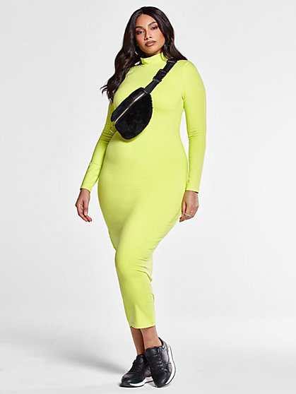 Plus Size Shandra Mockneck Bodycon Maxi Dress - Fashion To Figure