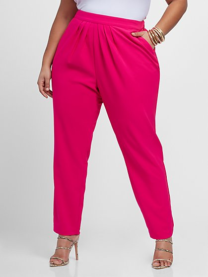 Plus Size Shannon Pleated Pants - Gabrielle Union x FTF - Fashion To Figure