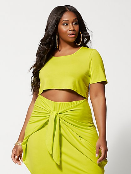 Plus Size Shawnee Crop Top - Fashion To Figure
