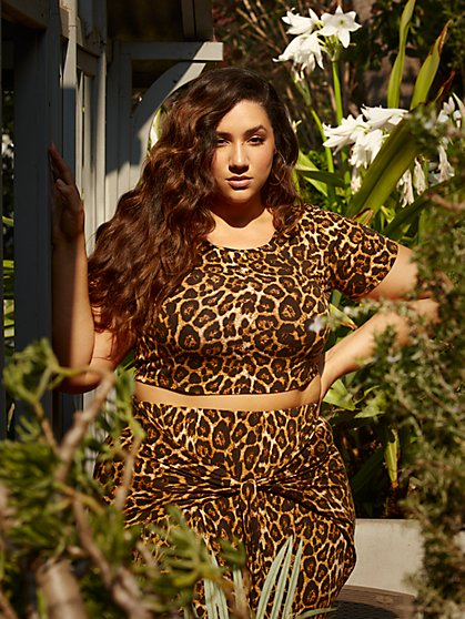 Plus Size Shawnee Leopard Harem Top - Fashion To Figure