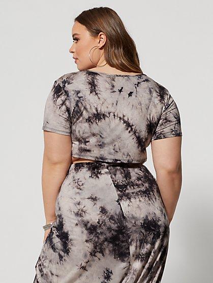 ebb3decca8a3 ... Plus Size Shawnee Tie-Dye Crop Top - Fashion To Figure ...