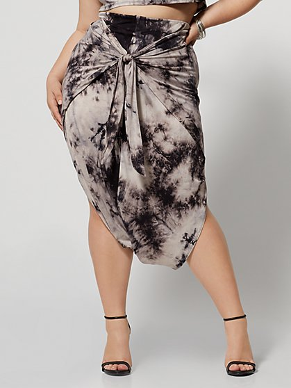 Plus Size Shawnee Tie-Dye Harem Skirt - Fashion To Figure