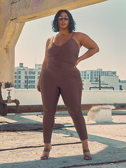 Plus Size Sheena Ruched Leggings - Fashion To Figure