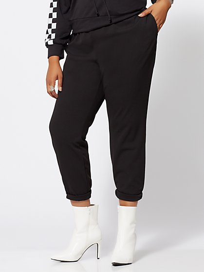 Plus Size Sheila Pintuck Jogger Pants - Fashion To Figure