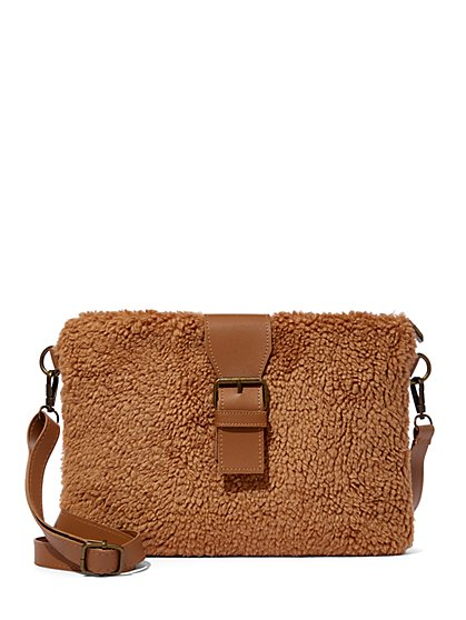 Plus Size Sherpa Crossbody Bag - Fashion To Figure