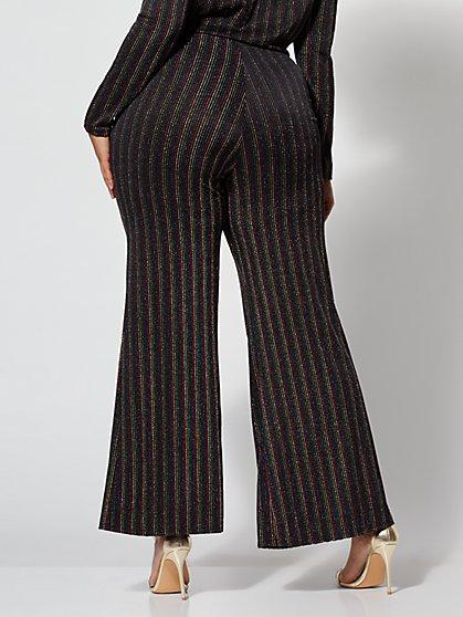 ecb3d7ecad4 ... Plus Size Shonda Glitter Striped Pants - Fashion To Figure