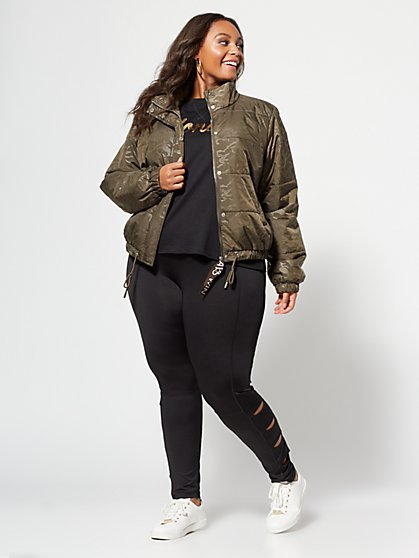 Plus Size Side-Slit Leggings - Fashion To Figure