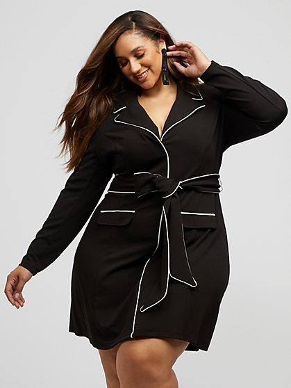 Plus Size Sienna Blazer Dress - Fashion To Figure