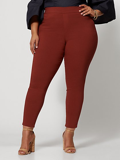 d3443a714ab92c Plus Size Signature - Brown Millennium Pant - Fashion To Figure ...