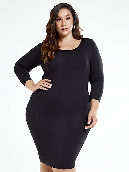 Plus Size Signature - Everyday Midi Dress - Fashion To Figure
