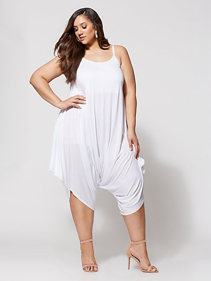 Plus Size Signature - Kaya White Harem Jumper - Fashion To Figure