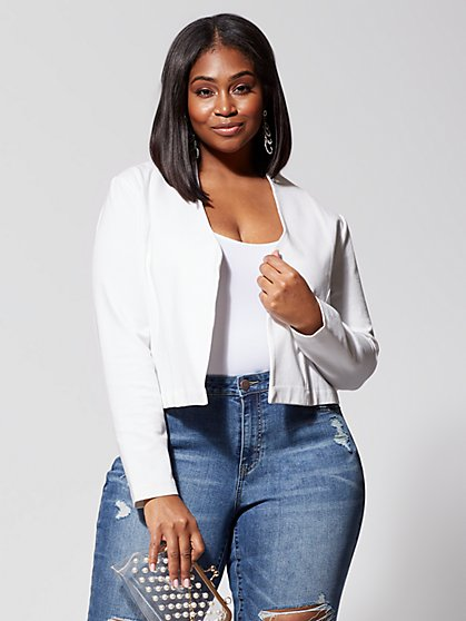 Plus Size Signature Ponte Blazer - Fashion To Figure