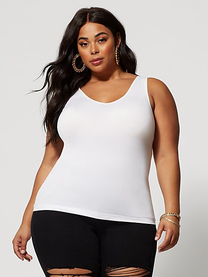 Plus Size Signature - Seamless Tank - Fashion To Figure