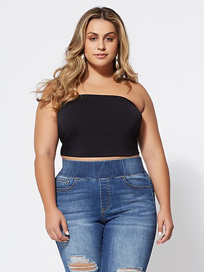 Plus Size Signature - Seamless Tube Top - Fashion To Figure