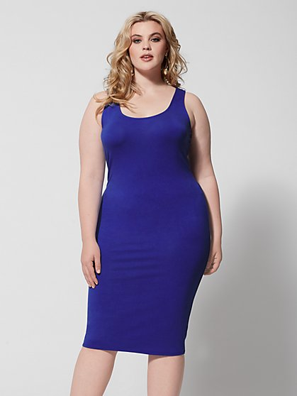 a711674340b Plus Size Signature - Sleeveless Everyday Midi - Fashion To Figure ...