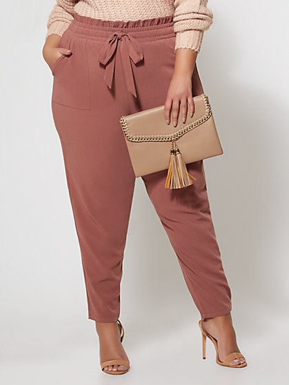 Plus Size Signature - Sonya Paper Bag Pant - Fashion To Figure