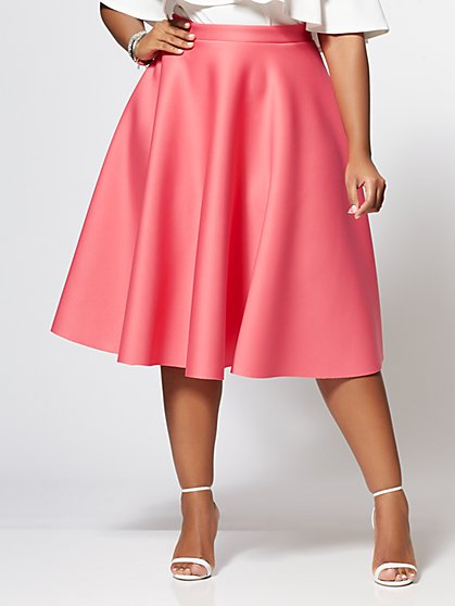Plus Size Simone Flare Skirt - Fashion To Figure