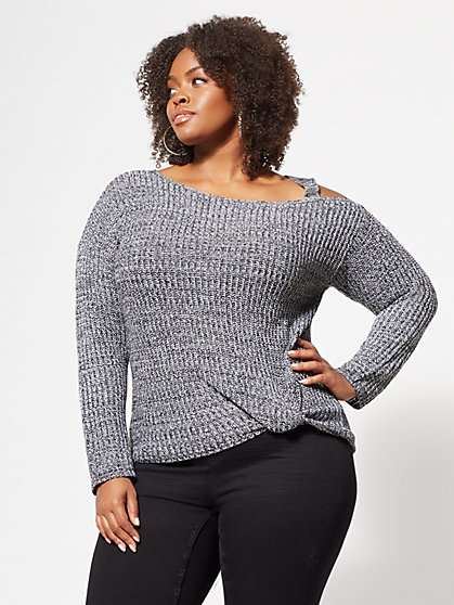 Plus Size Skylar Side-Knot Sweater - Fashion To Figure