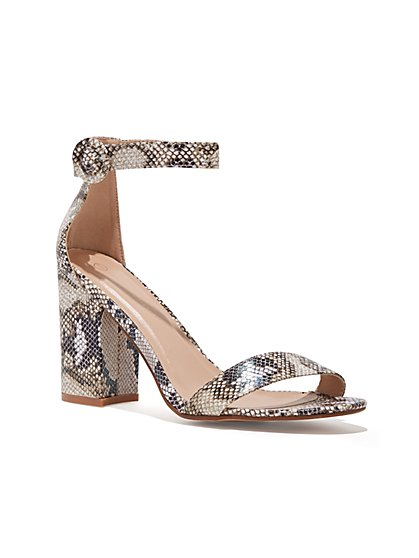 Plus Size Snake Print Heels - Wide Width - Fashion To Figure