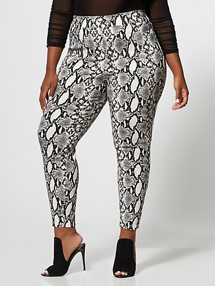 Plus Size Snake Print Millennium Pant - Fashion To Figure