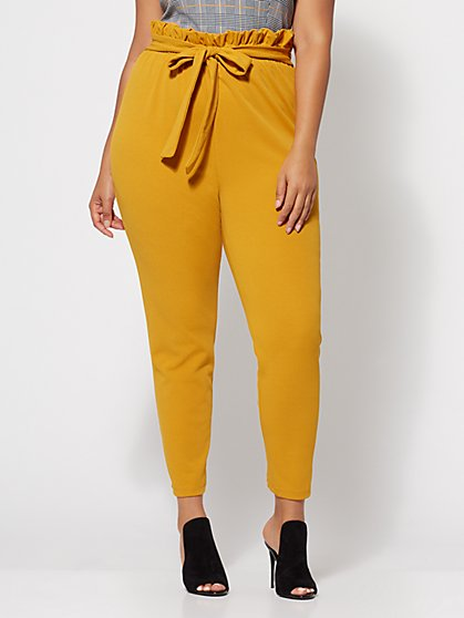 Plus Size Sonya Paperbag Pants - Fashion To Figure