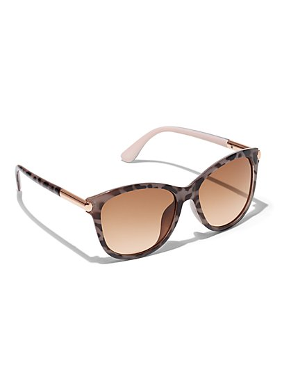 Plus Size Square Animal Print Sunglasses - Fashion To Figure