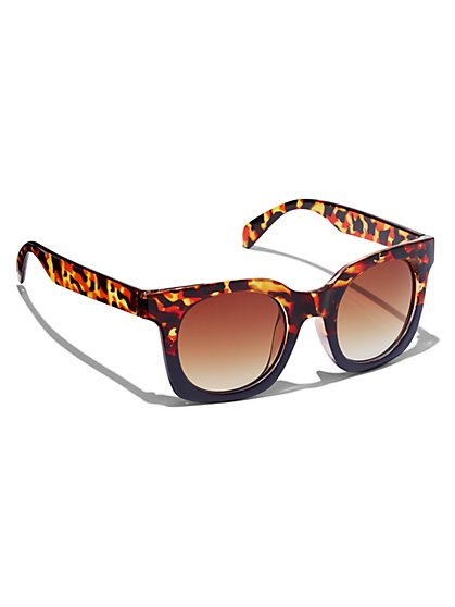 Plus Size Square Tortoise Frame Sunglasses - Fashion To Figure