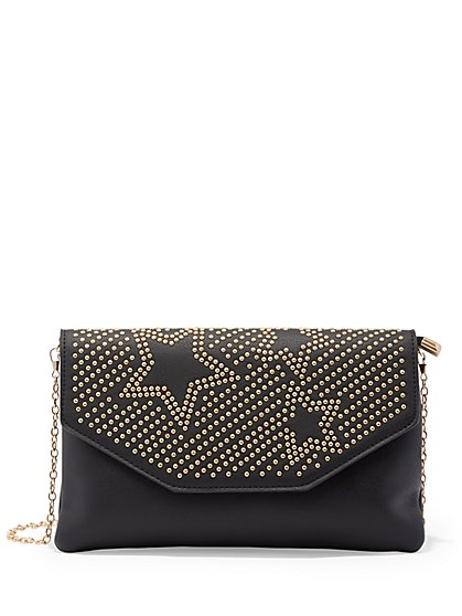 Plus Size Starry Studded Clutch - Fashion To Figure