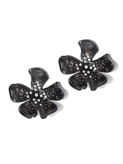 Plus Size Statement Floral Earrings - Fashion To Figure