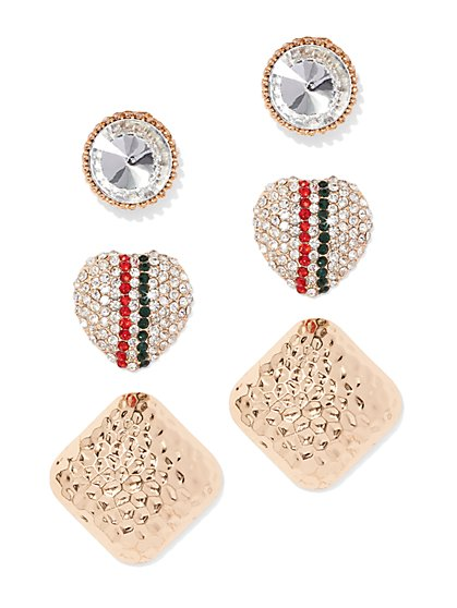 Plus Size Statement Stud Earring Set - Fashion To Figure