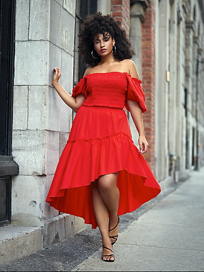 Plus Size Stella Tiered Ruffle Skirt - Gabrielle Union x FTF - Fashion To Figure